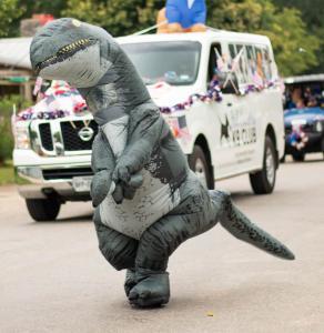 Dinosaur in parade